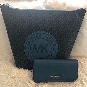 Michael kors tote and wallet - Dark Chambray